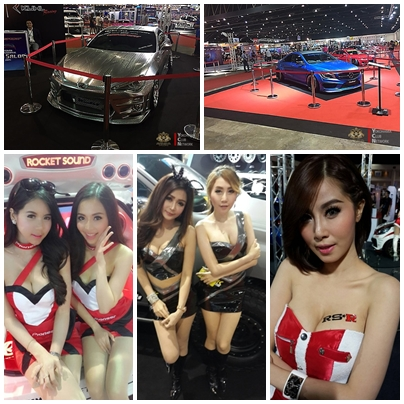 Bangkok International Auto Salon 2015 เริ่มแล้ว รถแต่งเพียบ พริตตี้เจิดสุด ๆ จัดขึ้นระหว่างวันที่ 24–28 มิถุนายน 2558 ณ เมืองทองธานี